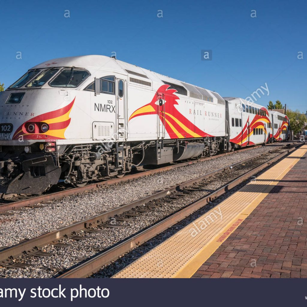 Santa Fe Train Coloring Pages With Rail Runner Stock Photos Images Alamy