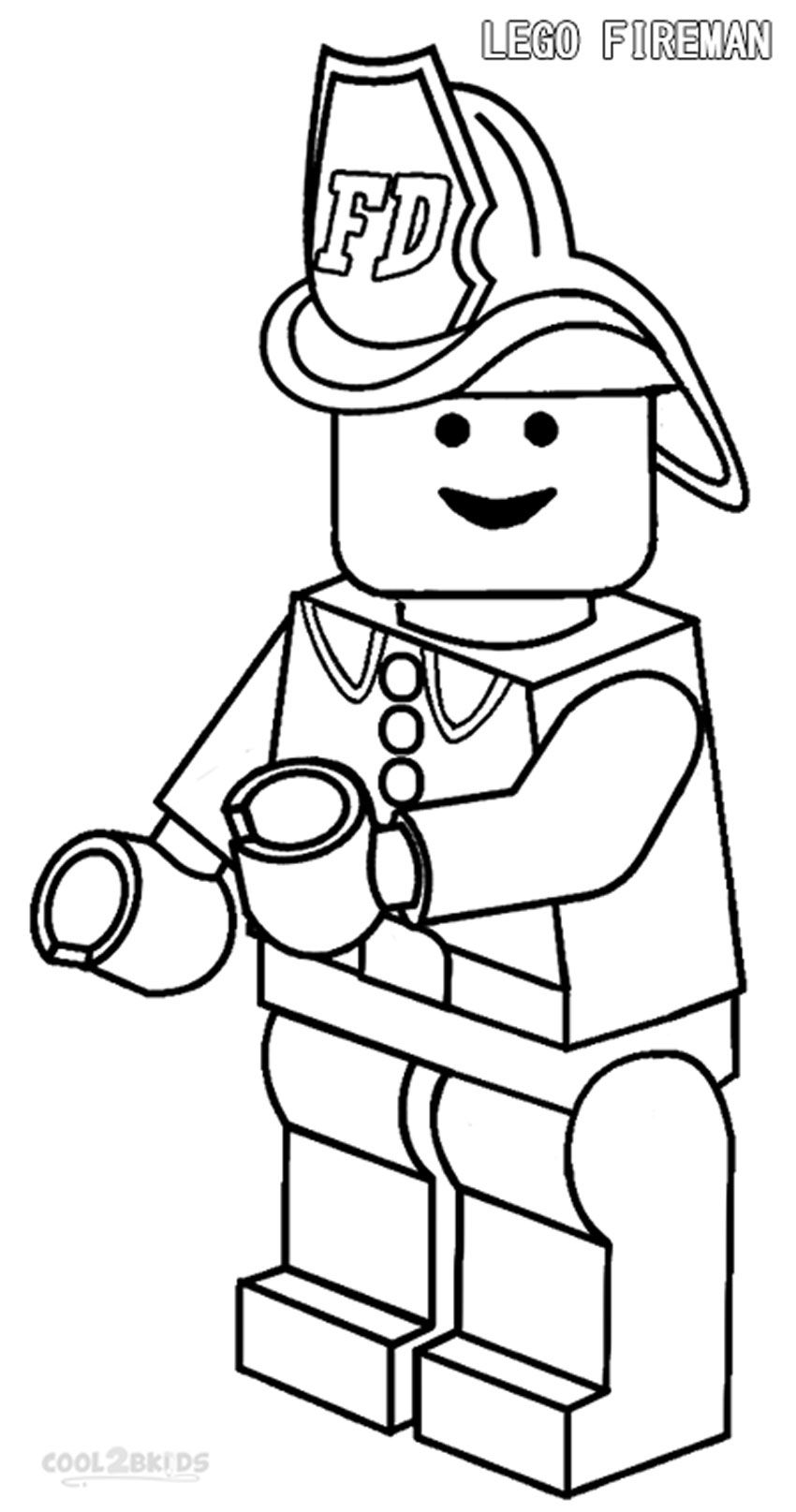 Santa Fireman Coloring Page With Free Printable Pages Cool2bKids Miscellaneous