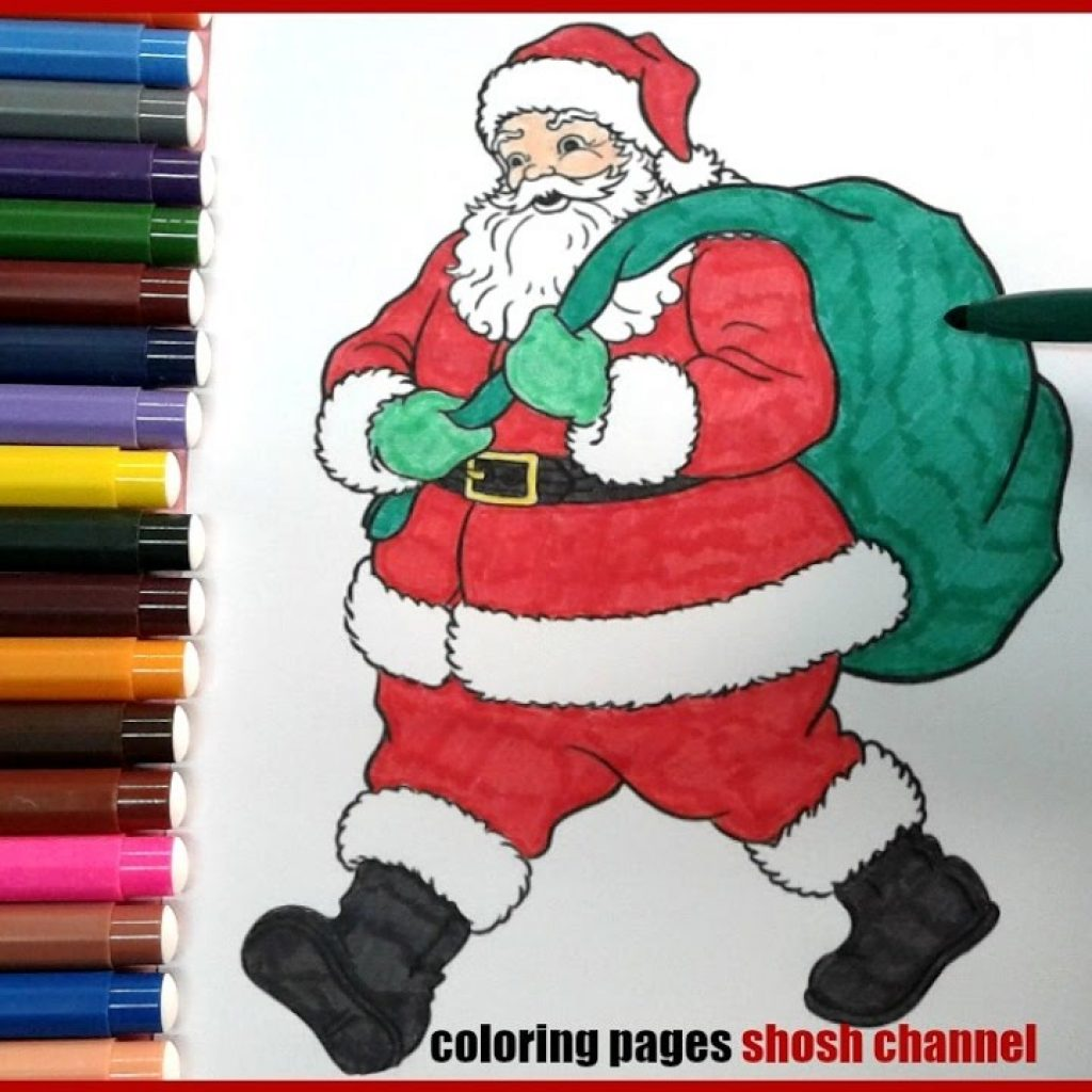 Santa Flying Coloring Pages With Claus For Preschoolers Christmas From