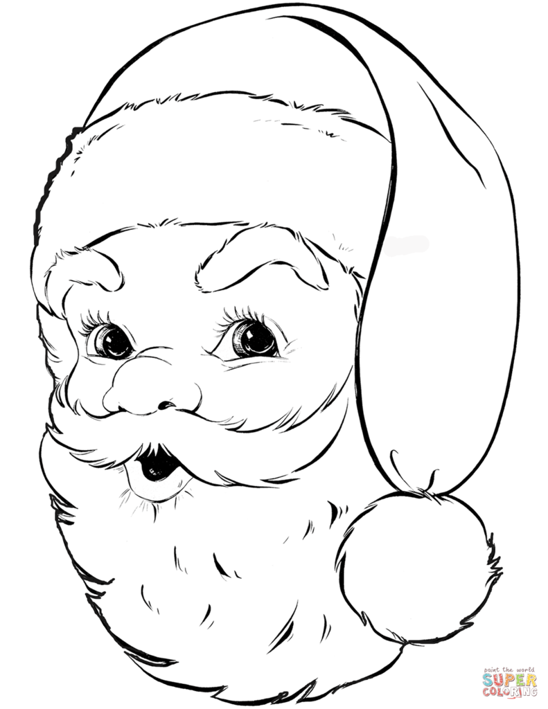 Santa For Coloring With Claus Pages Free