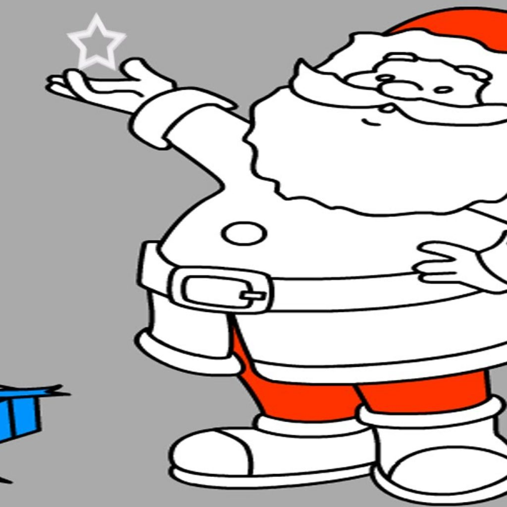Santa Free Coloring With Claus Online Page Game For Kids