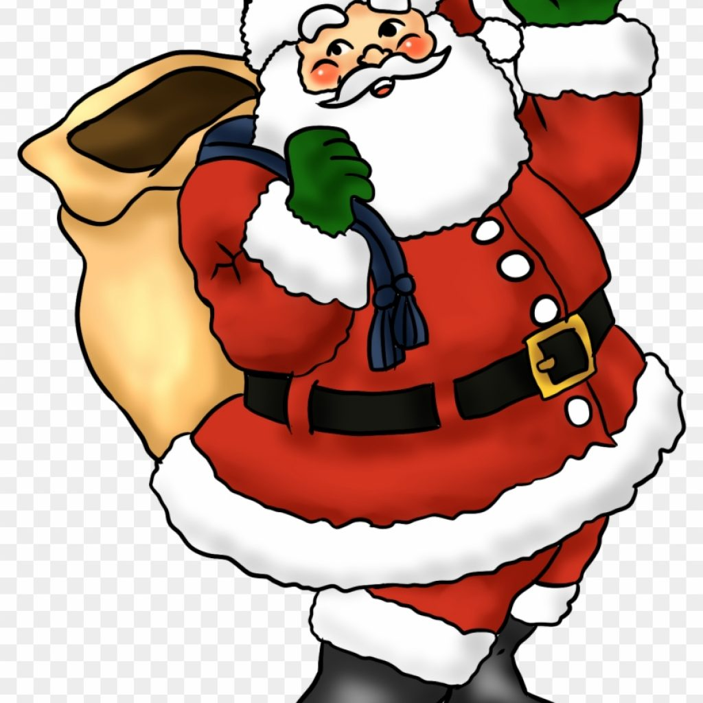 Santa Free Coloring With Lovely Claus Clip Art Whimsical Christmas Easy