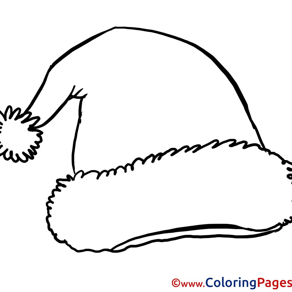 santa-hat-coloring-page-with-christmas-pages-valid