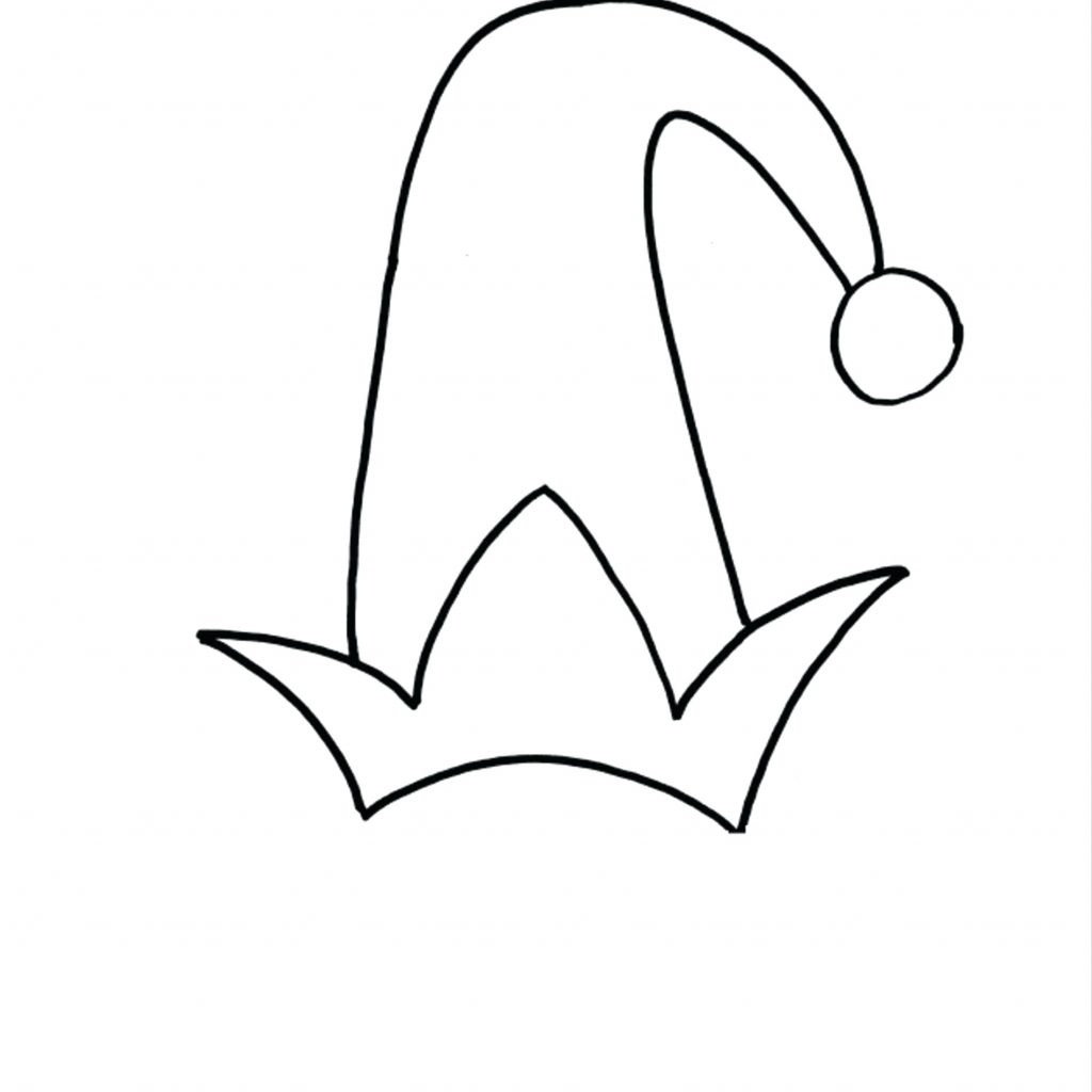 Santa Hat Coloring Page With Hats Pages Penguin