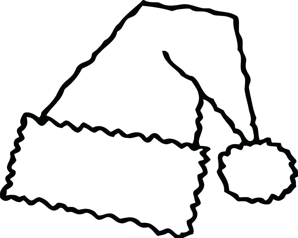 Santa Hat Coloring Page With Images Free Pages Part 3 And