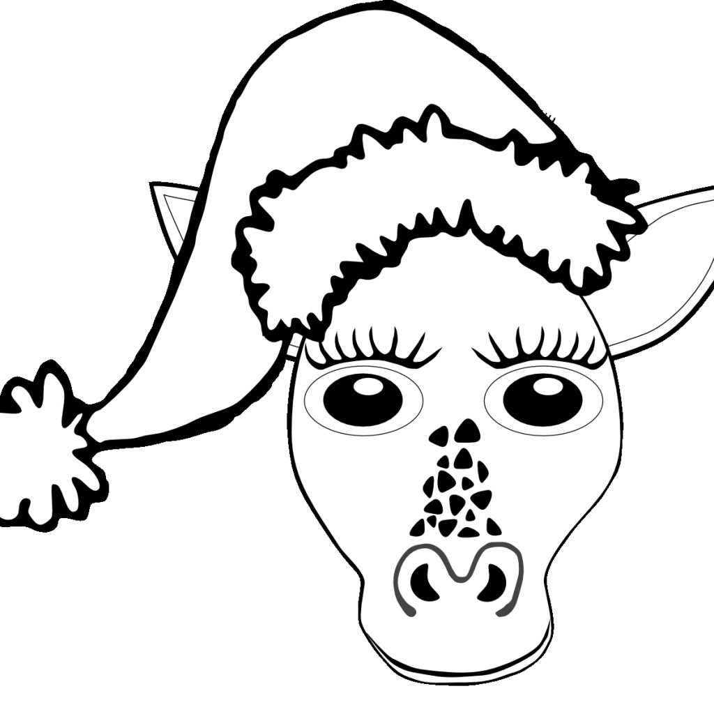 Santa Hat Coloring Page With Pages