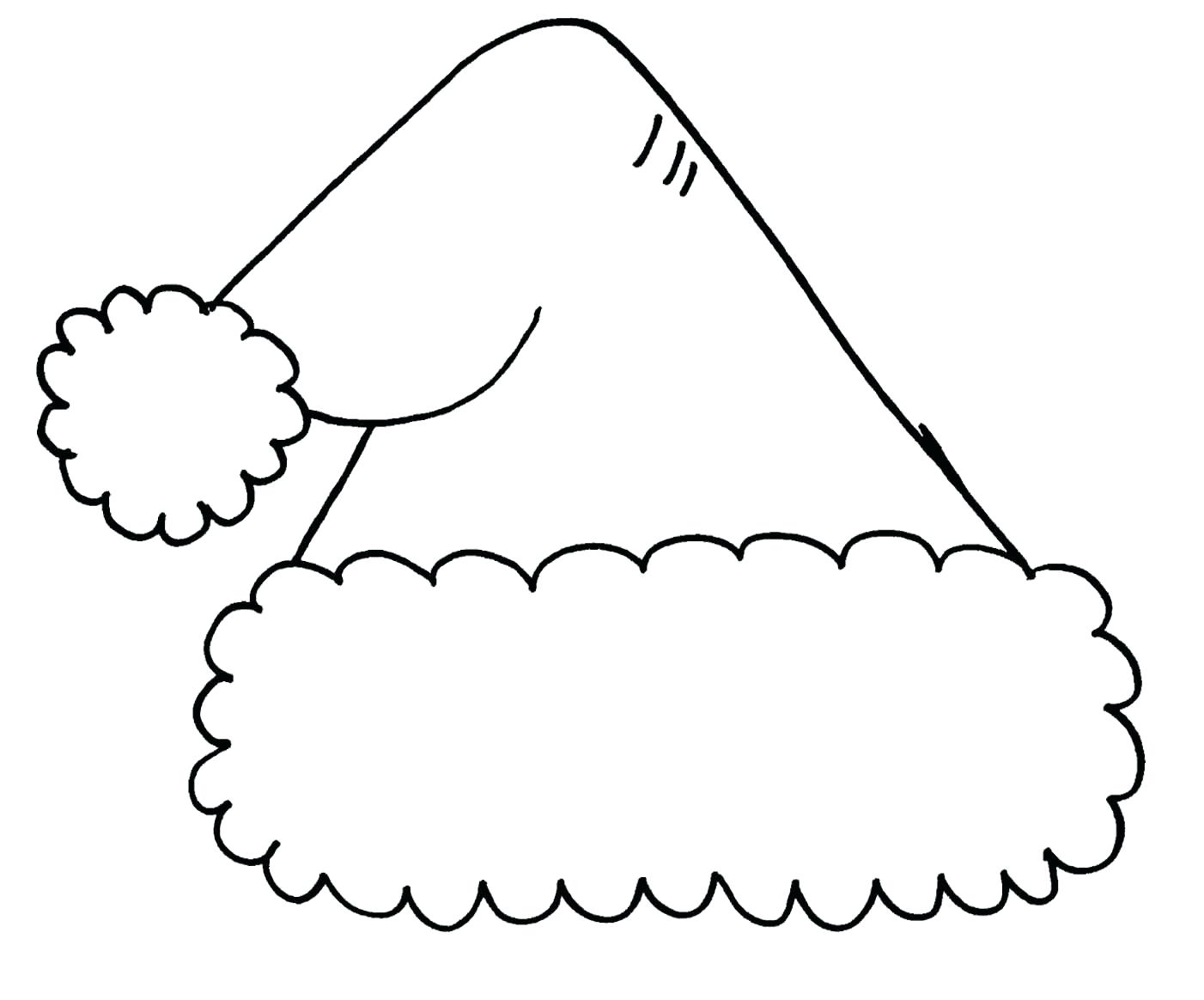 Santa Hat Coloring Page With Pages Com Lovely Christmas