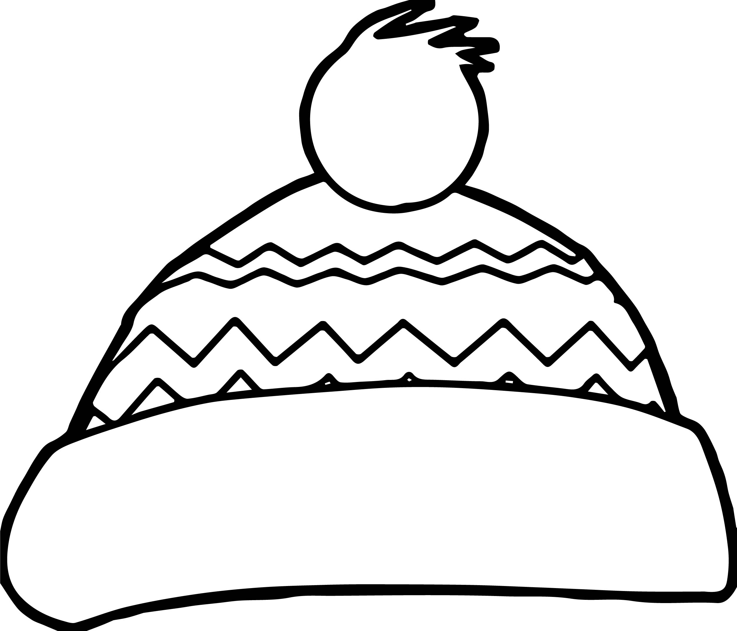 Santa Hat Coloring Page With Printable Pages For Kids Cool2bKids In