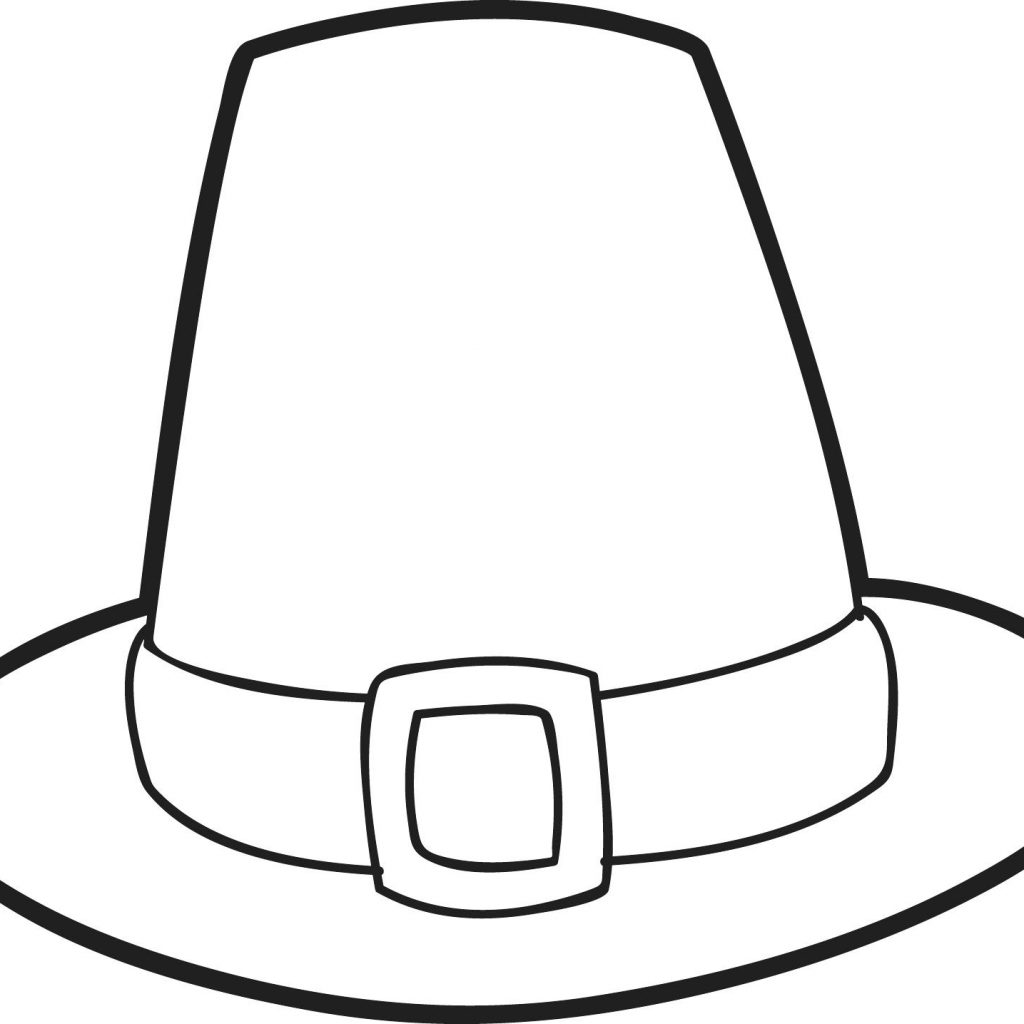 Santa Hat Coloring Pages Printable With Page Elegant Pilgrim Of