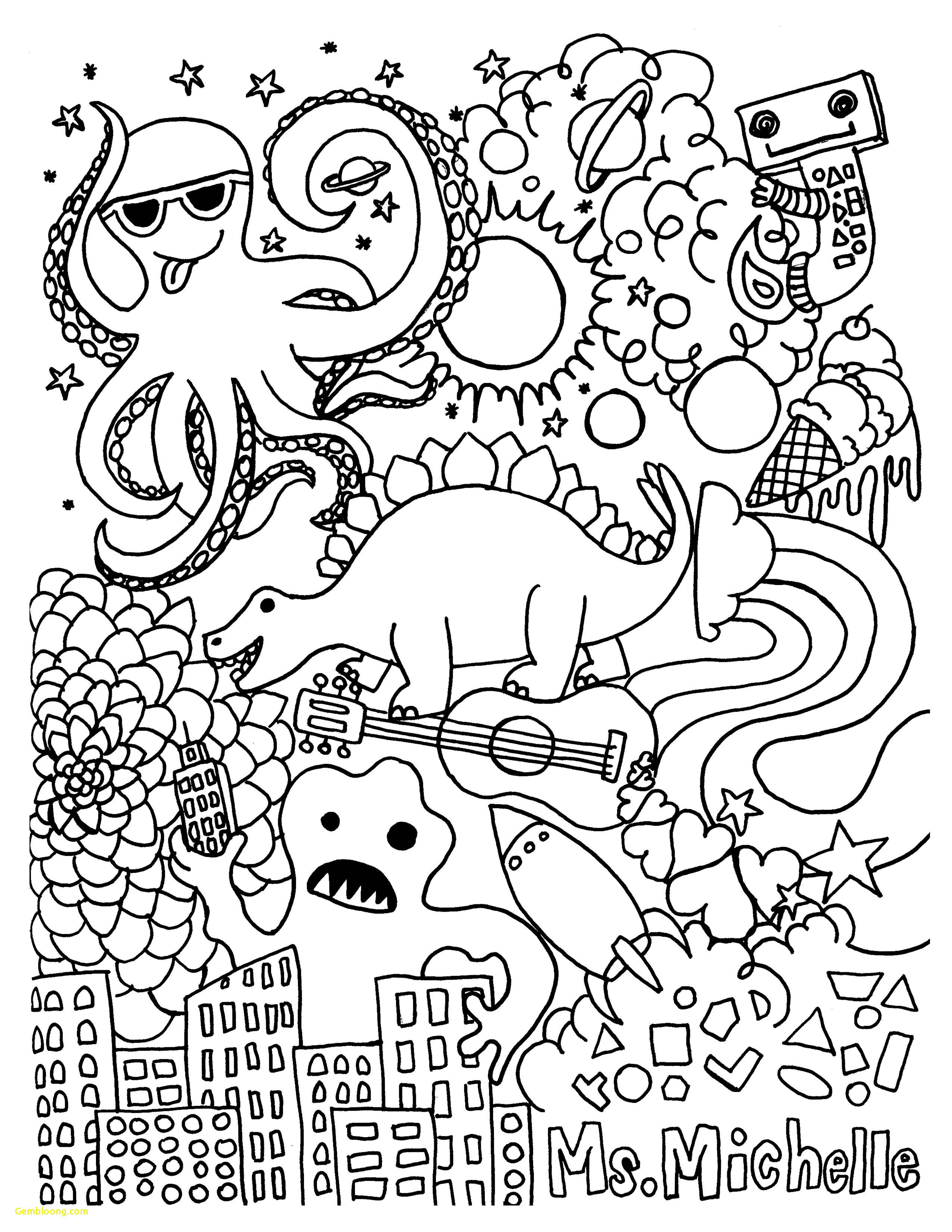 Santa Hat Coloring Picture With Colouring Page 14 New S