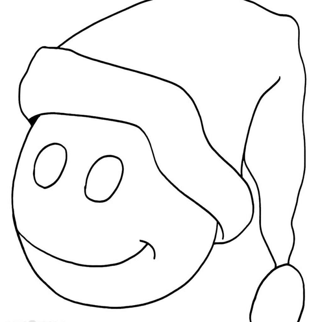 Santa Hat Coloring Template With Printable Pages For Kids Cool2bKids