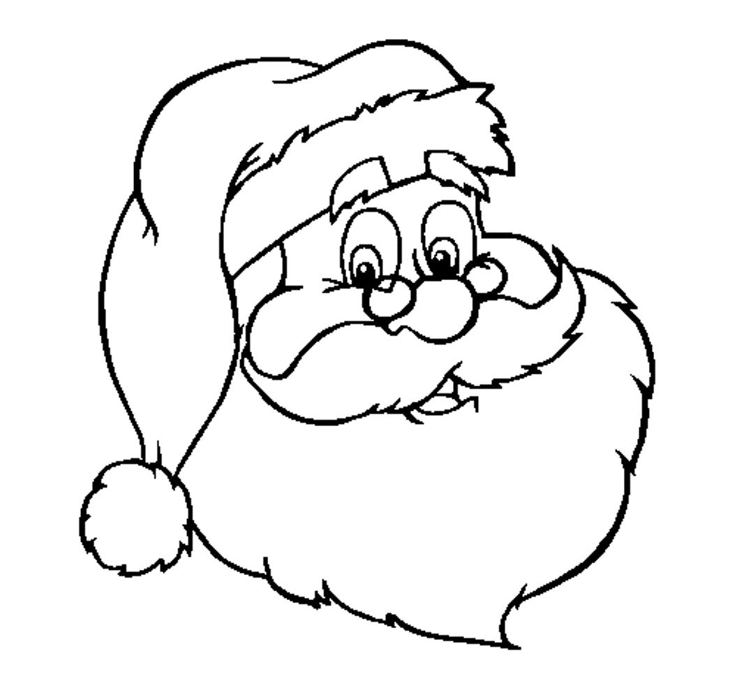 Santa Head Coloring Page With And Snowman Pages Elegant Claus