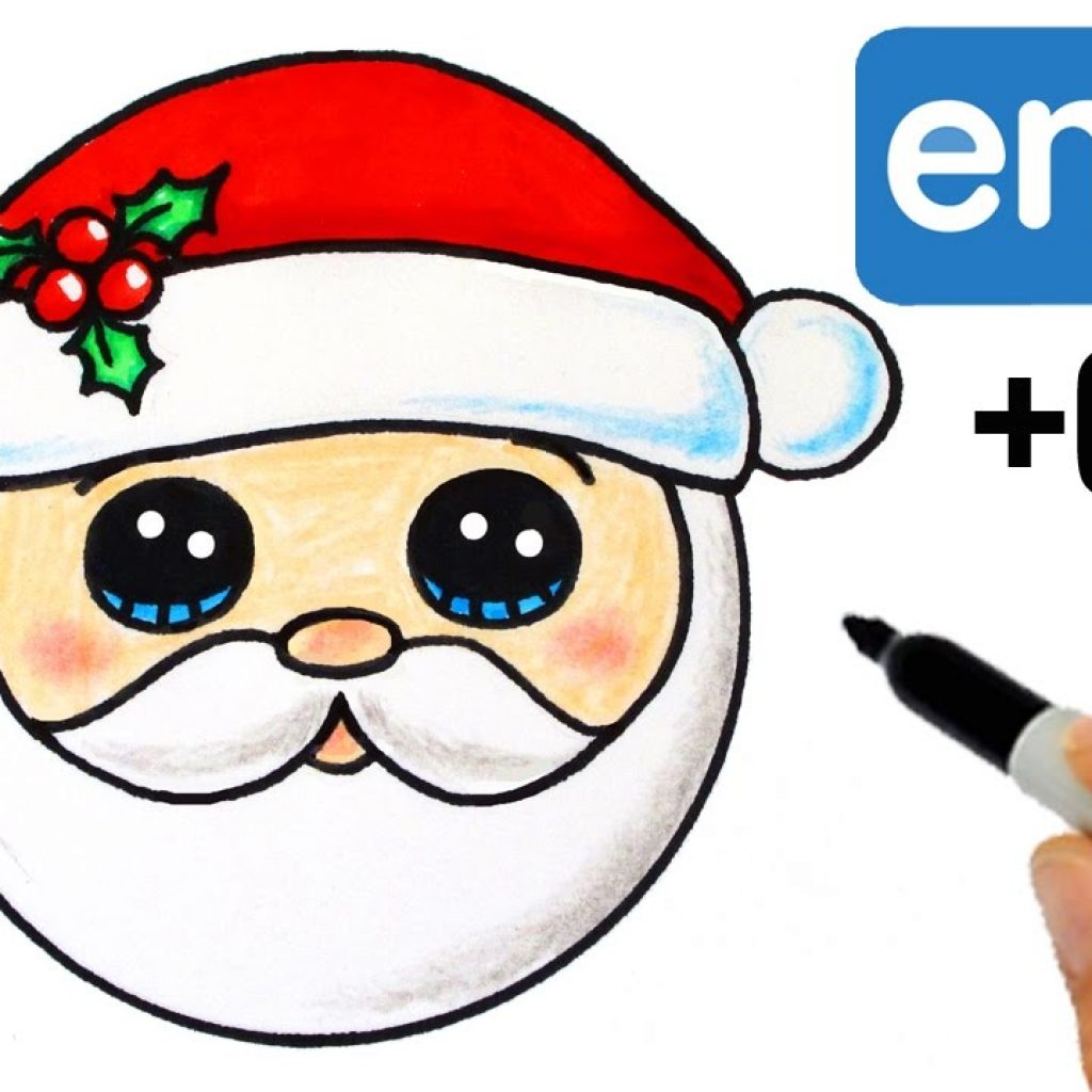 Santa Head Coloring With How To Draw Emoji Super Easy YouTube