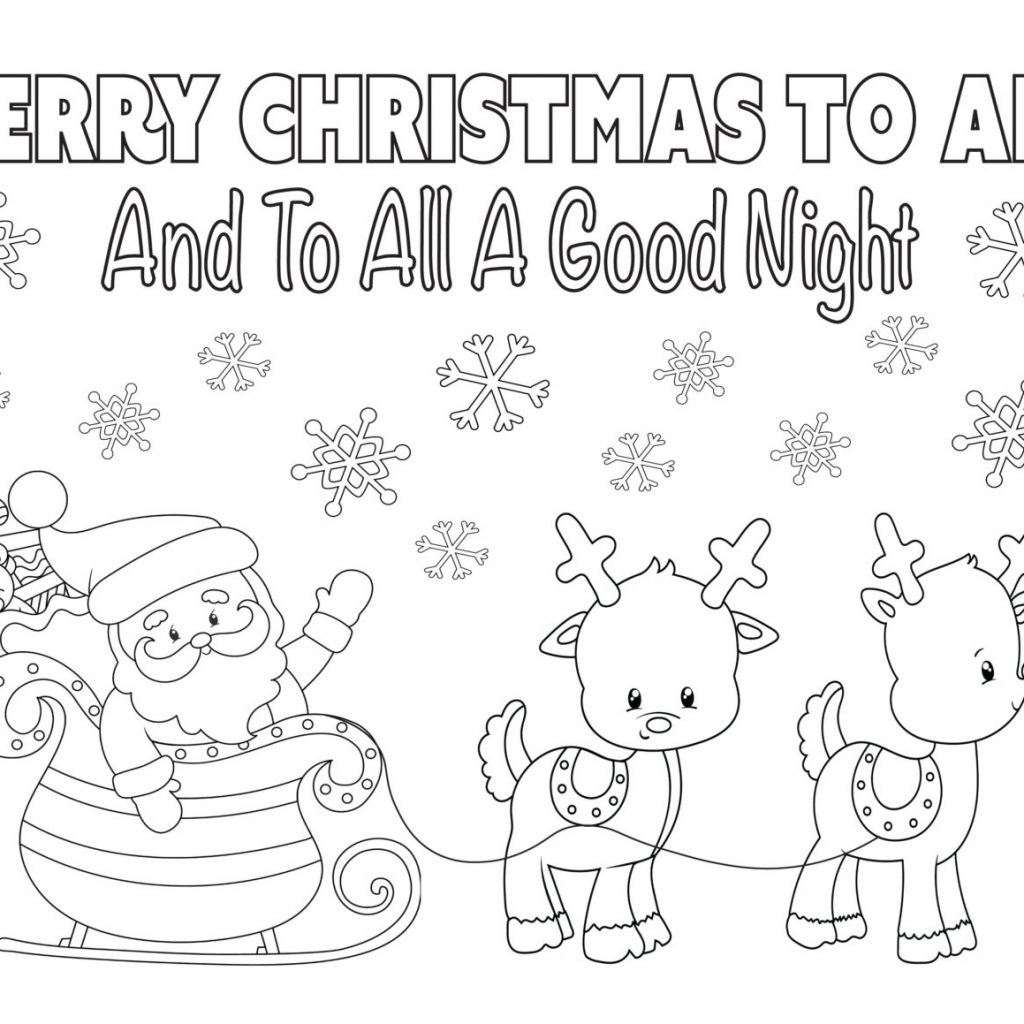 Santa In Australia Coloring Sheets With Christmas Page 8 5×11 Instant Download Printable Etsy