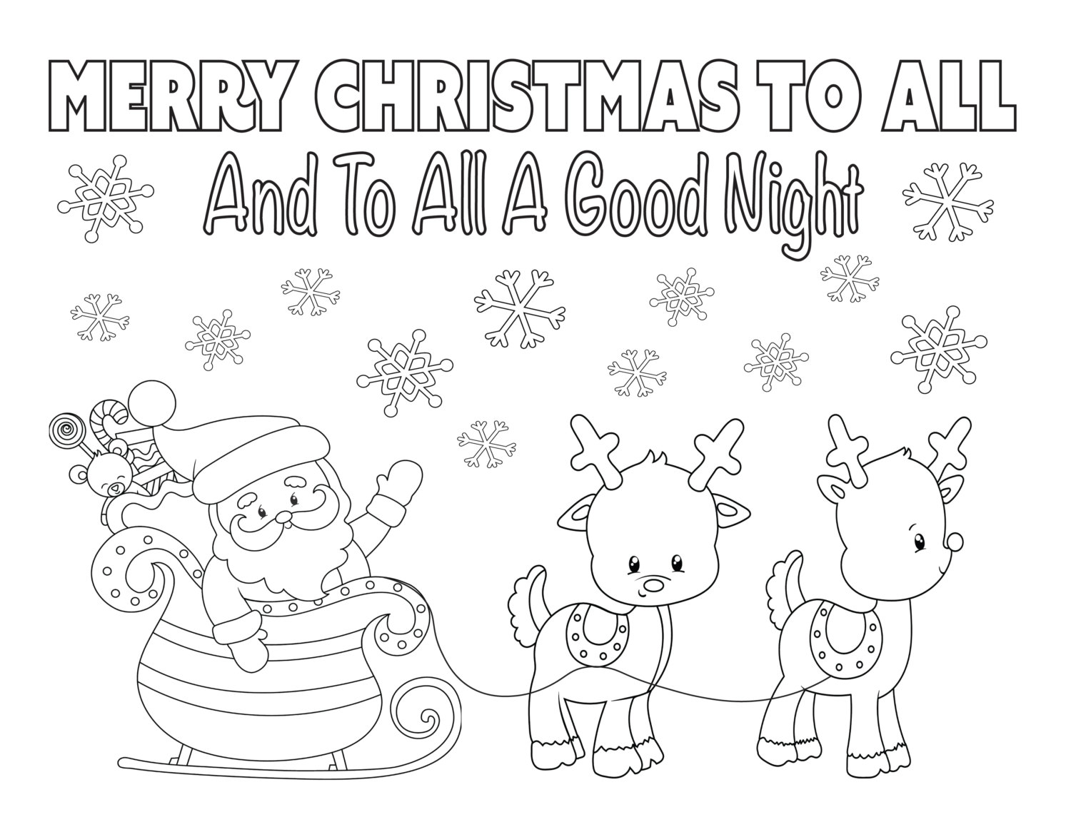 Santa In Australia Coloring Sheets With Christmas Page 8 5x11 Instant Download Printable Etsy