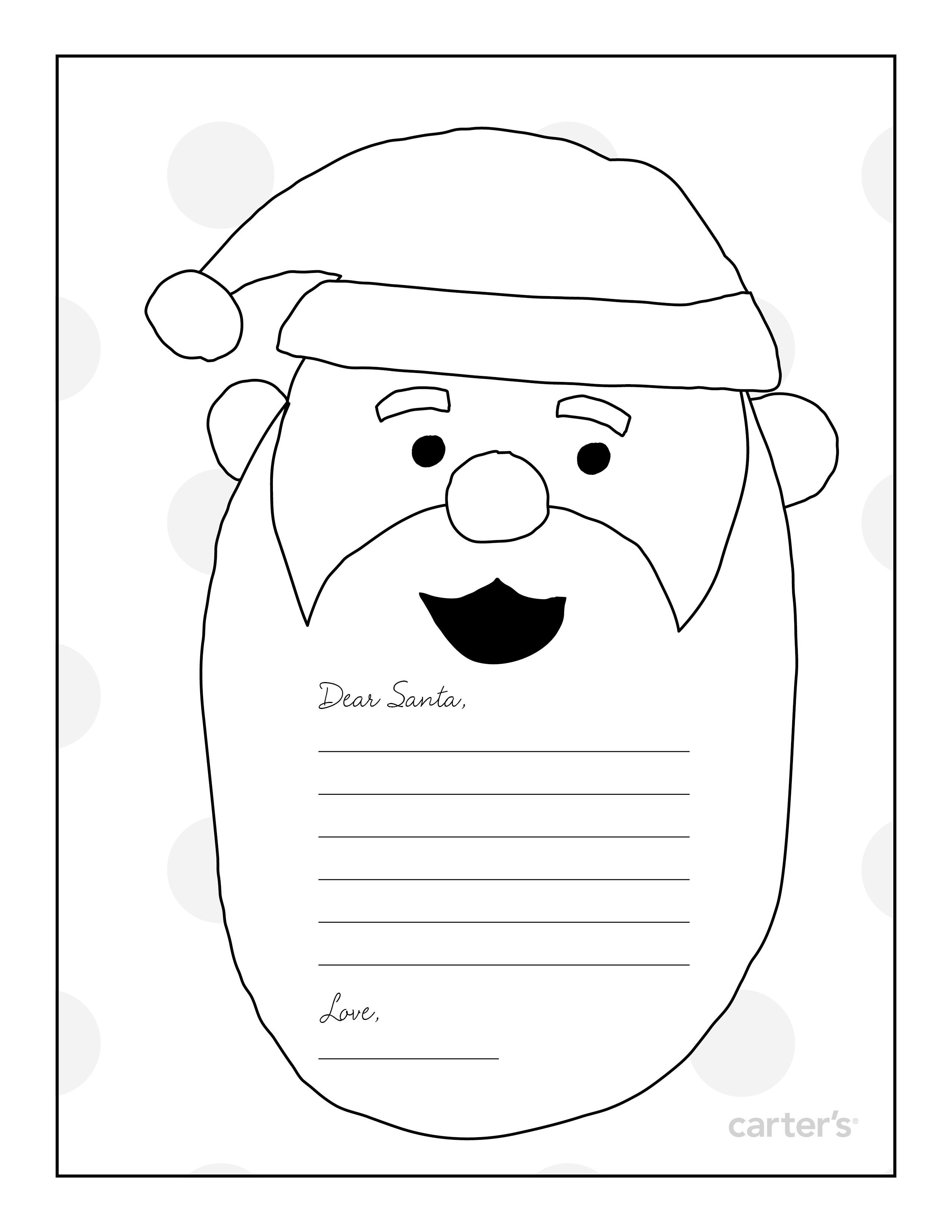 Santa Letter Coloring Page With ColoringPage Christmas Pinterest And