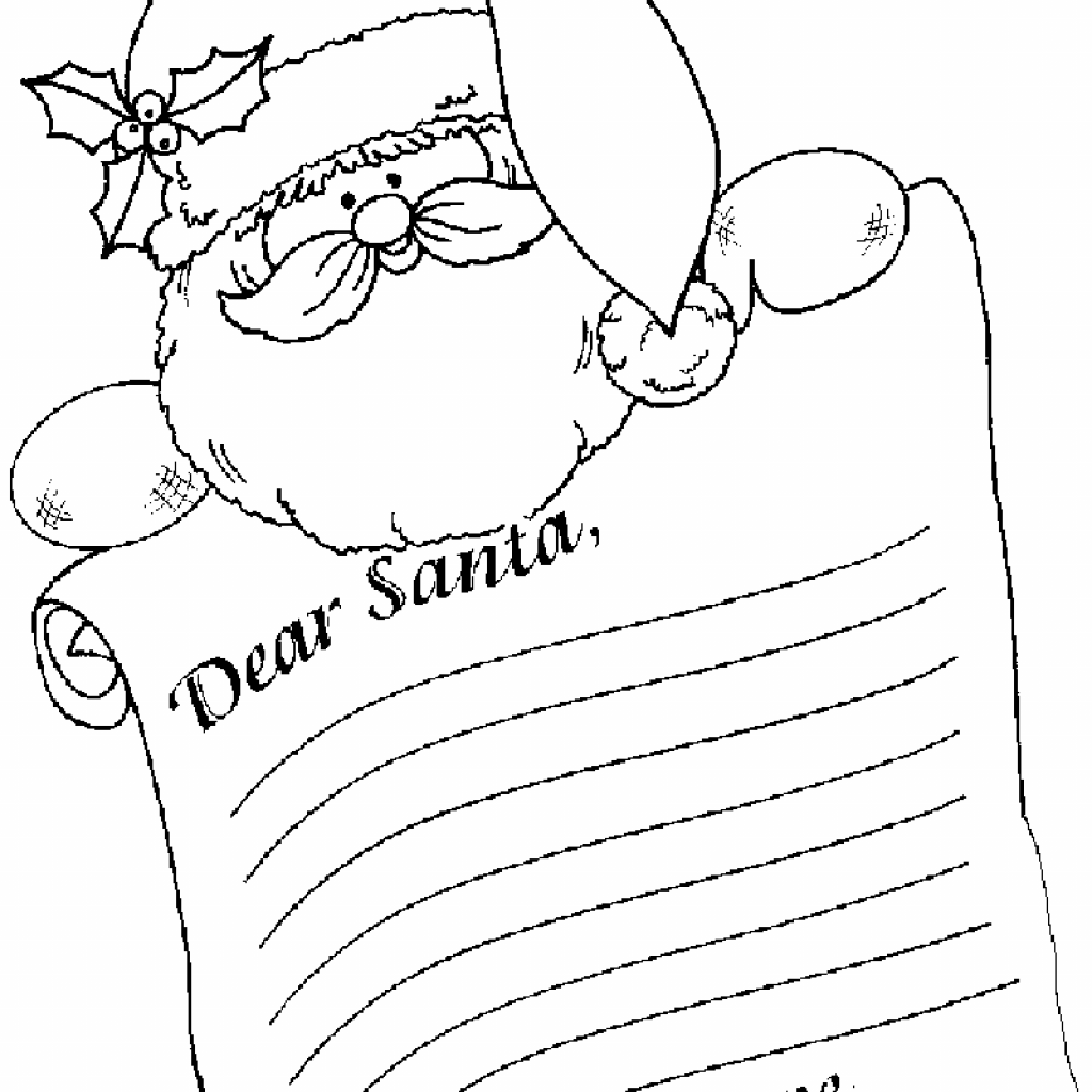 Santa Letter Coloring Sheet With Letterhead Template Invitation Templates PuX6vdRX Holidays