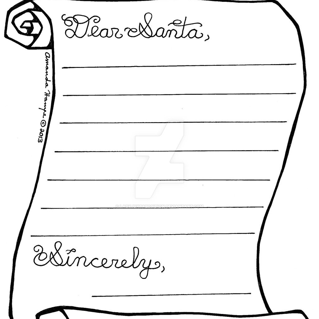 Santa Letter Coloring Sheet With Pages