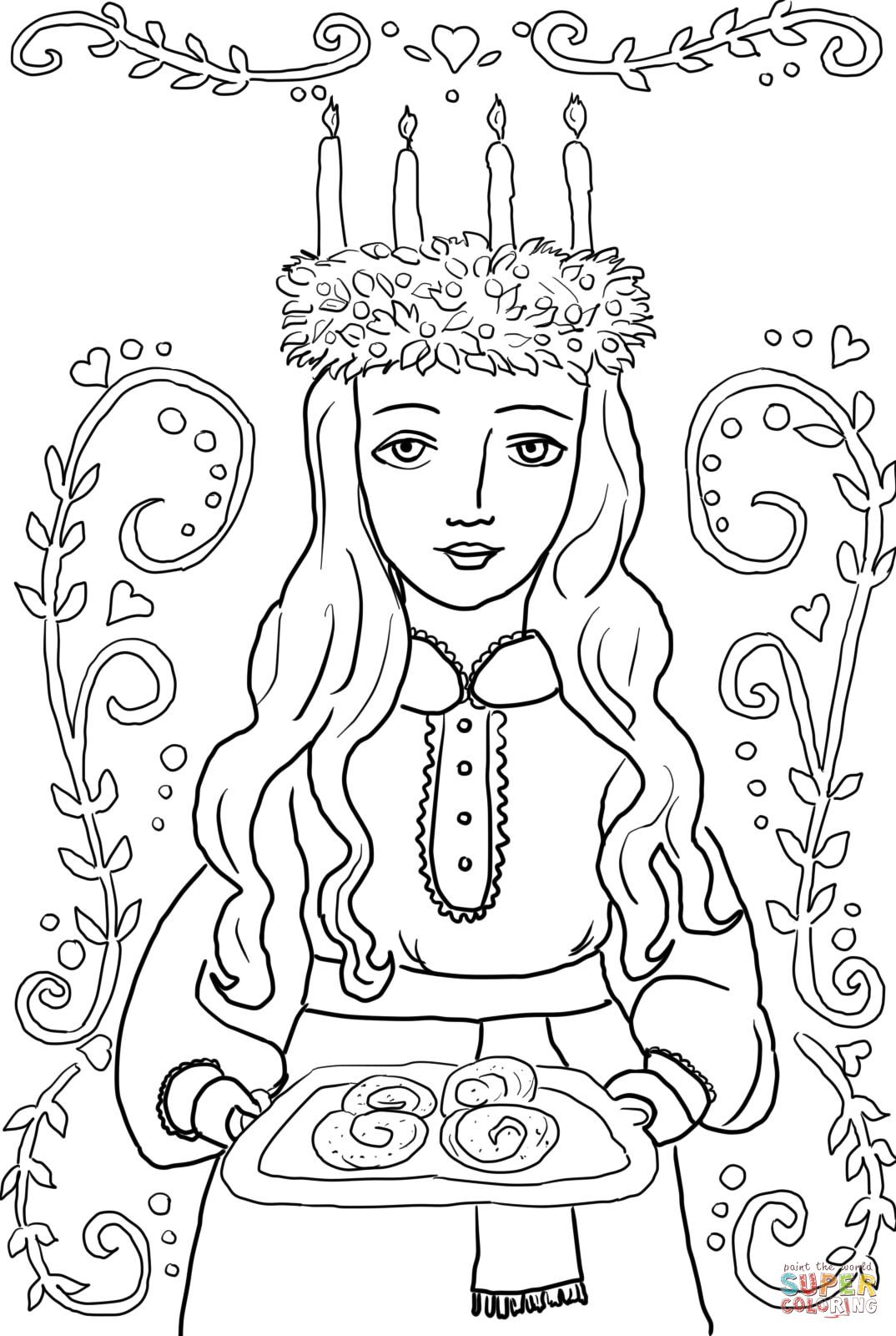 Santa Lucia Coloring Pages With Advent Activities Pinterest
