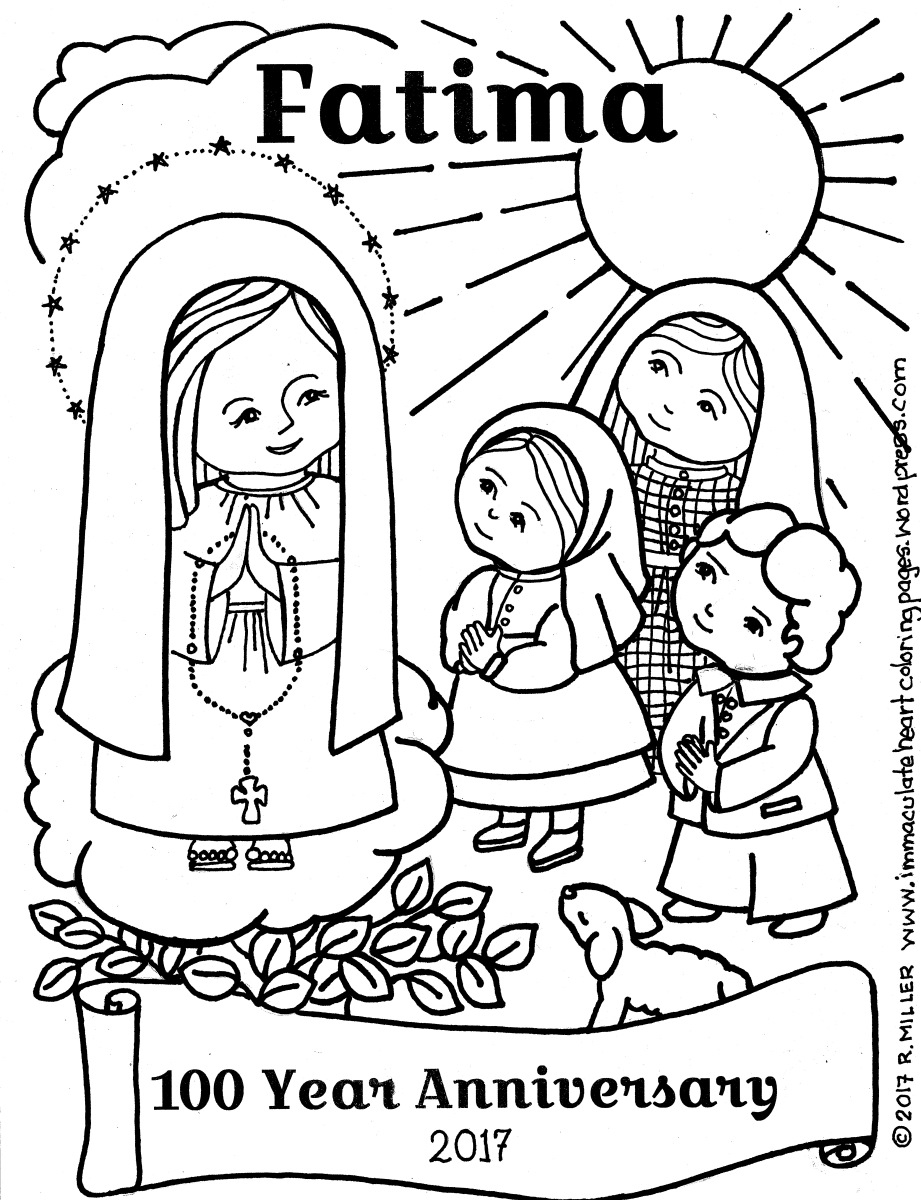 Santa Lucia Coloring Pages With FATIMA 100 Year Anniversary Page Immaculate Heart