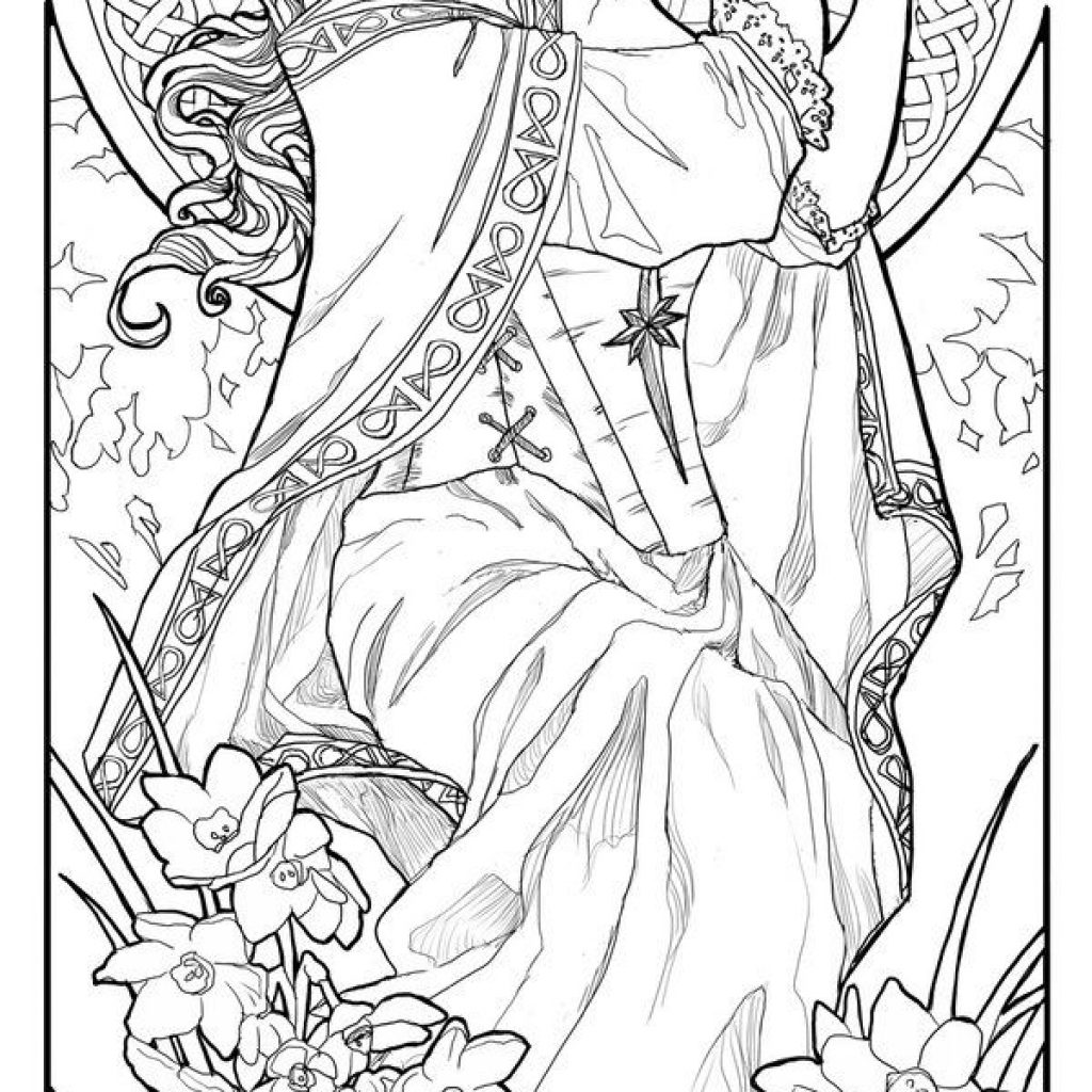Santa Lucia Coloring Pages With Lady Of December Line Art By AngelaSasser On DeviantART