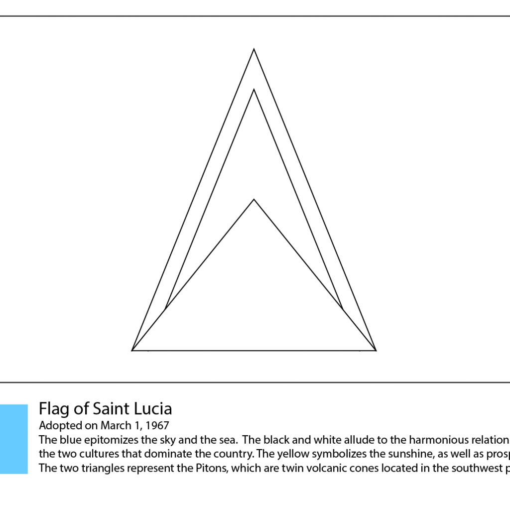 Santa Lucia Coloring Sheets With Flag Of Saint Page Free Printable Pages