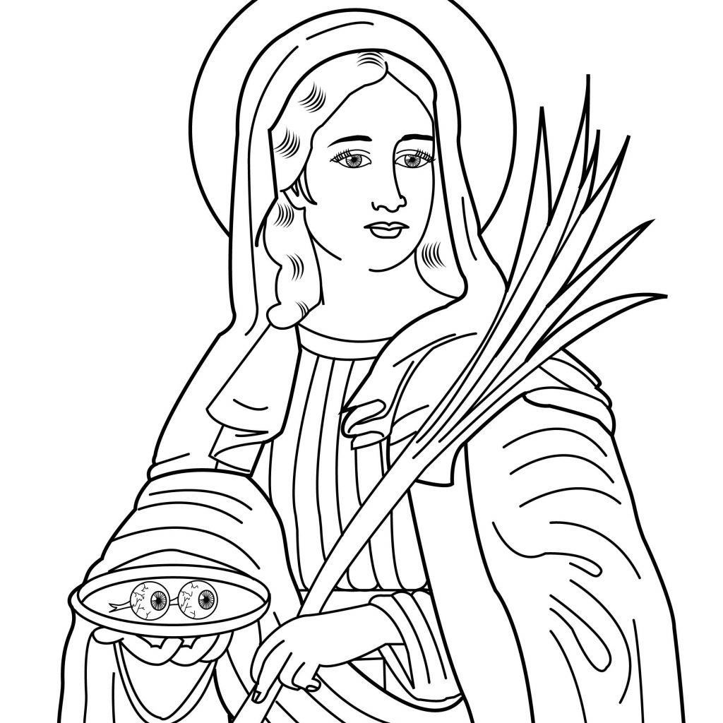 Santa Lucia Coloring Sheets With Nice Free Pages Of Christian Saints Check More At Http