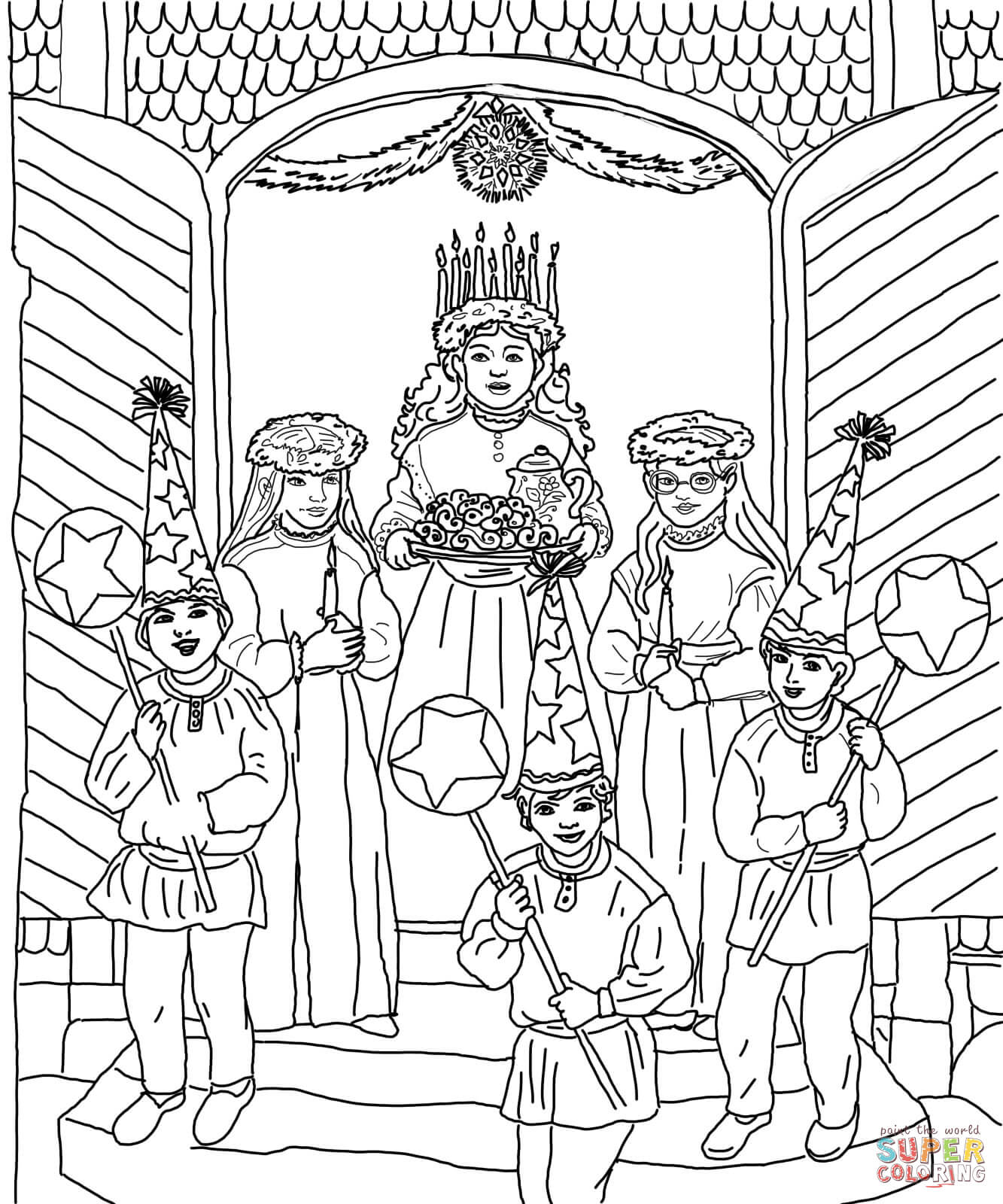 Santa Lucia Coloring Sheets With Saint Lucy S Day Pages Free