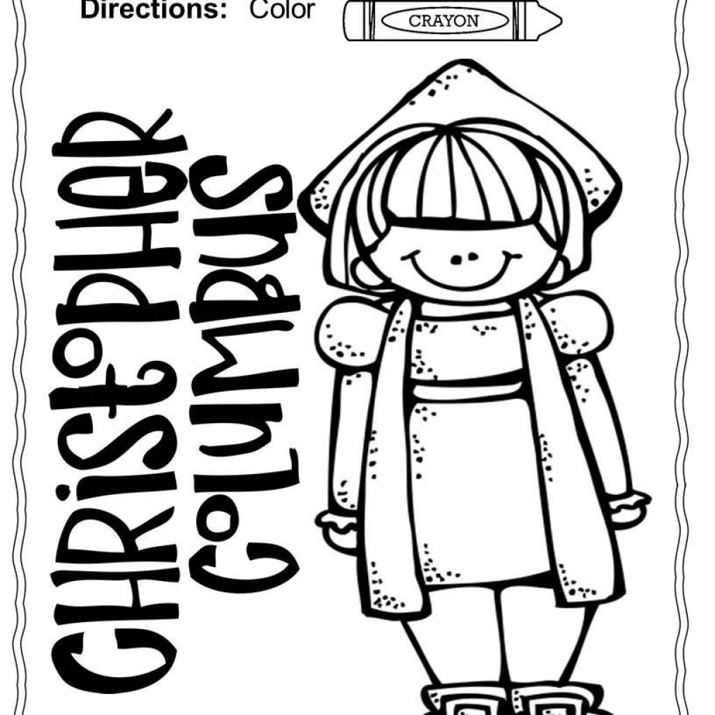 Santa Maria Coloring Page With Christopher Columbus Pages Nina Pinta And 4