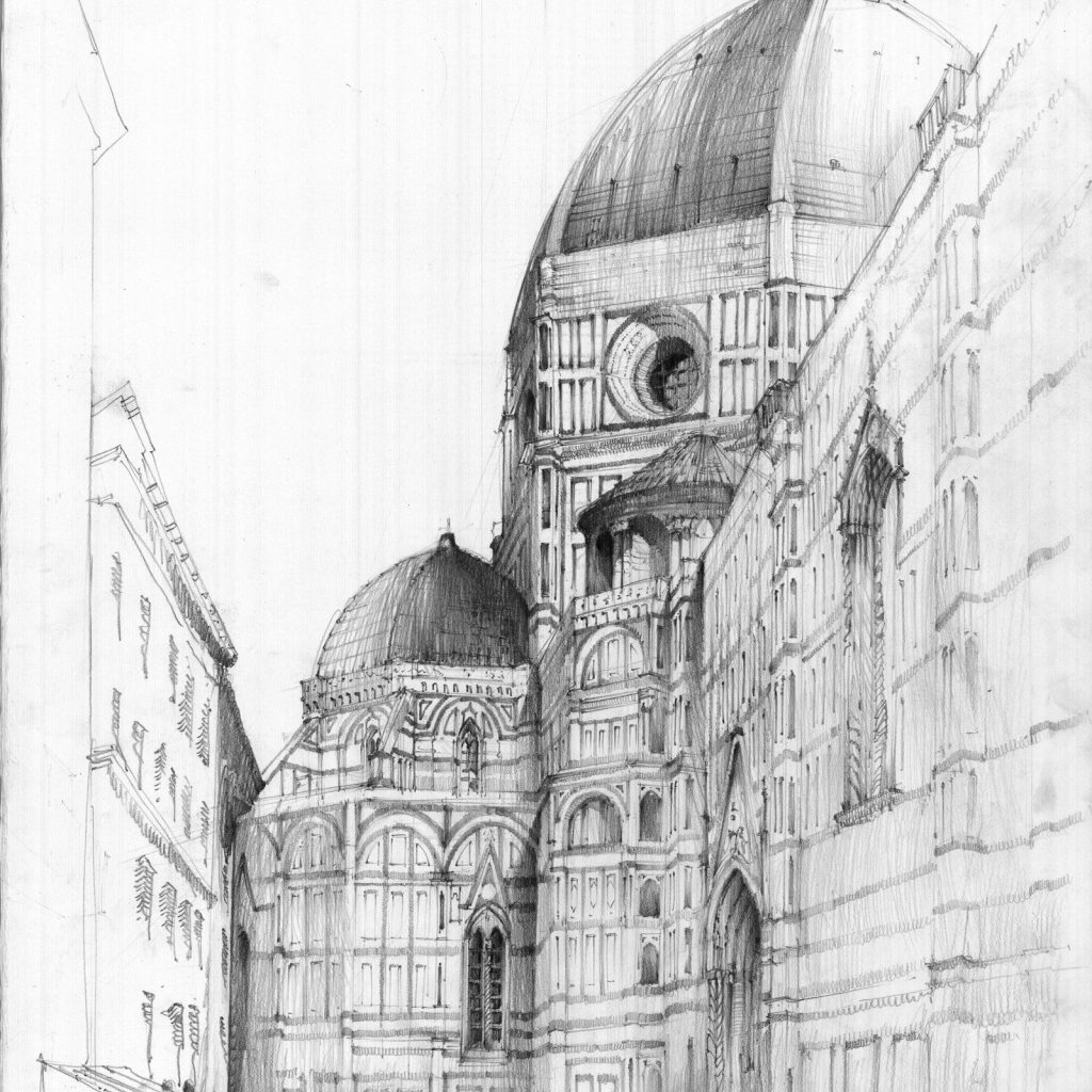 Santa Maria Coloring Page With Del Fiore By Kackarp Buildings And Scenes