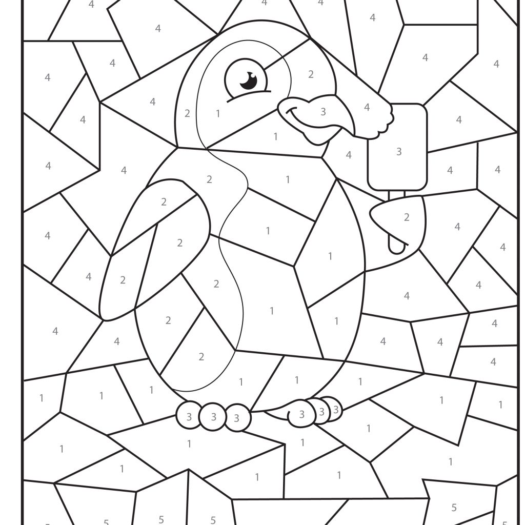 Santa Math Coloring Pages With Best Of Christmas Color By Numbers In