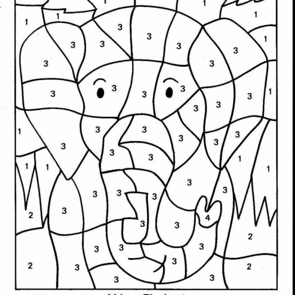 Santa Math Coloring Sheets With Kindergarten Worksheets Picture Free