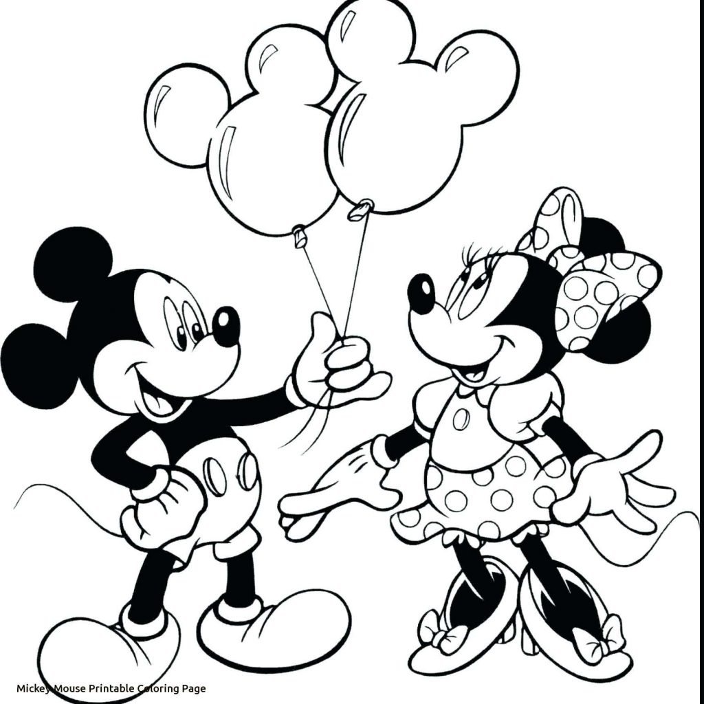 Santa Mickey Coloring Pages With Minnie