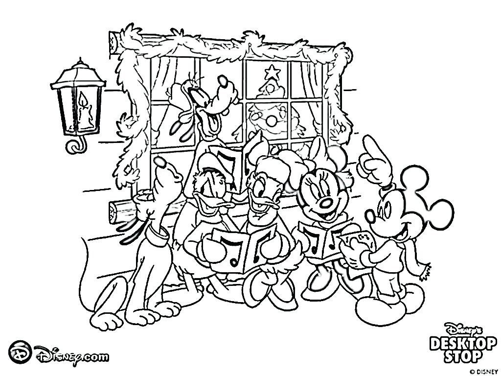 Santa Mickey Coloring Pages With Mouse Baby A Christmas Page Free Printable Mo
