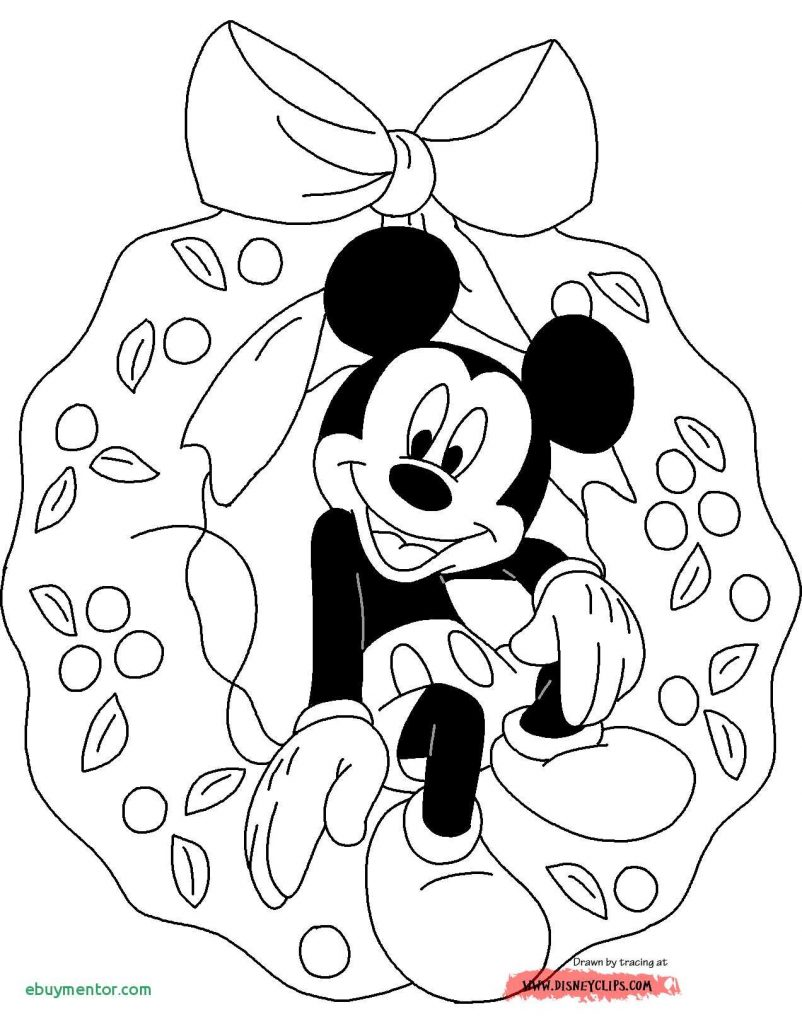 Santa Mickey Coloring Pages With Mouse Christmas Tree Fresh Color