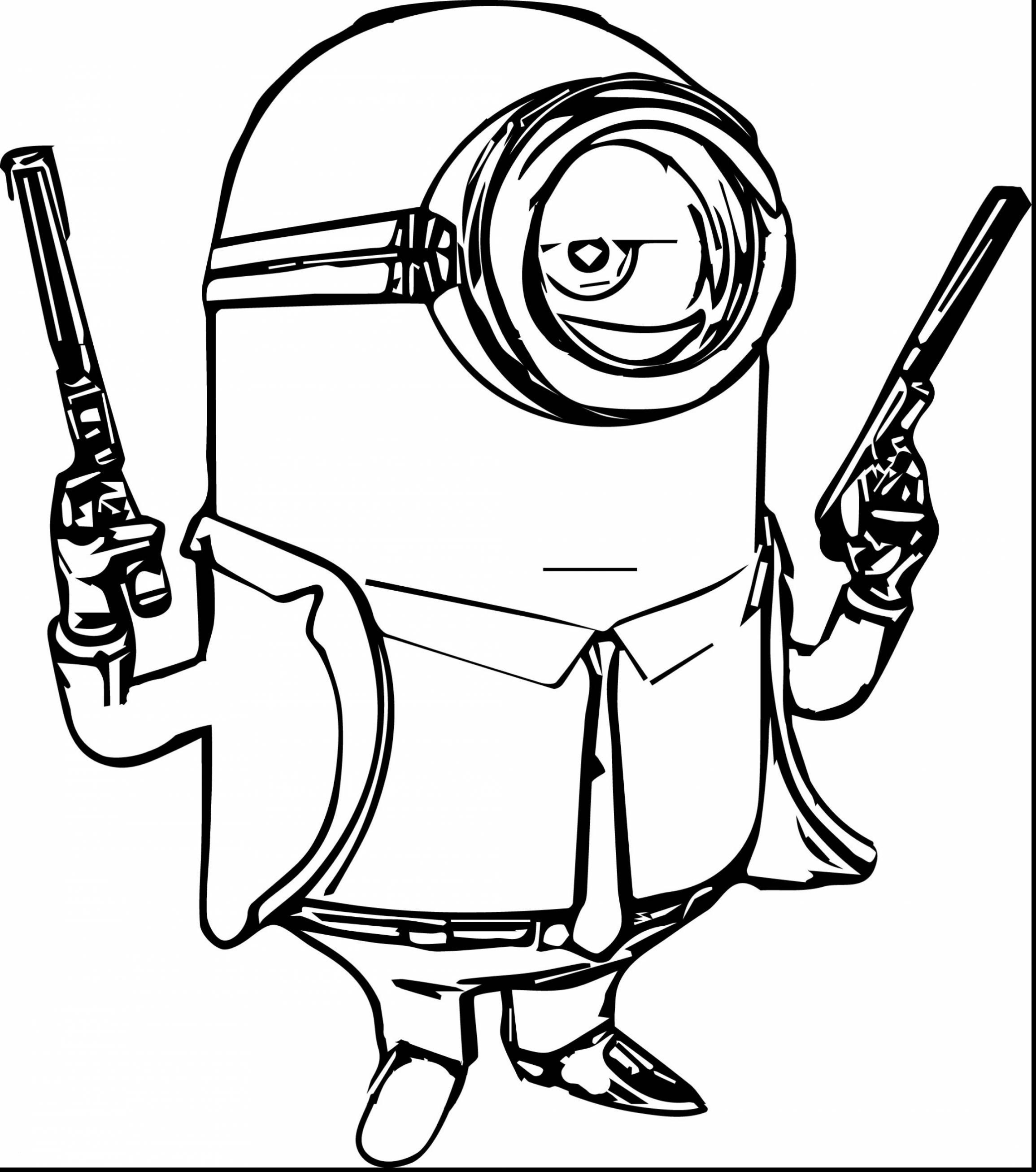Santa Minion Coloring Pages With Bob The