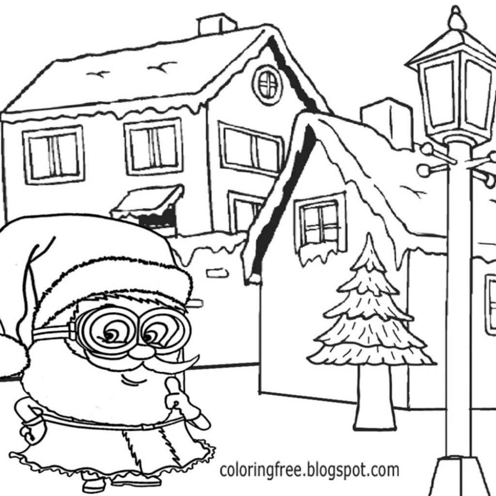 Santa Minion Coloring Pages With LETS COLORING BOOK Cool Merry Christmas Minions For