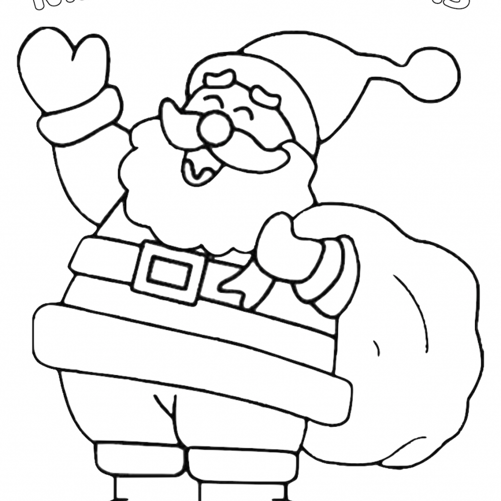 Santa Mouse Coloring Pages With Christmas