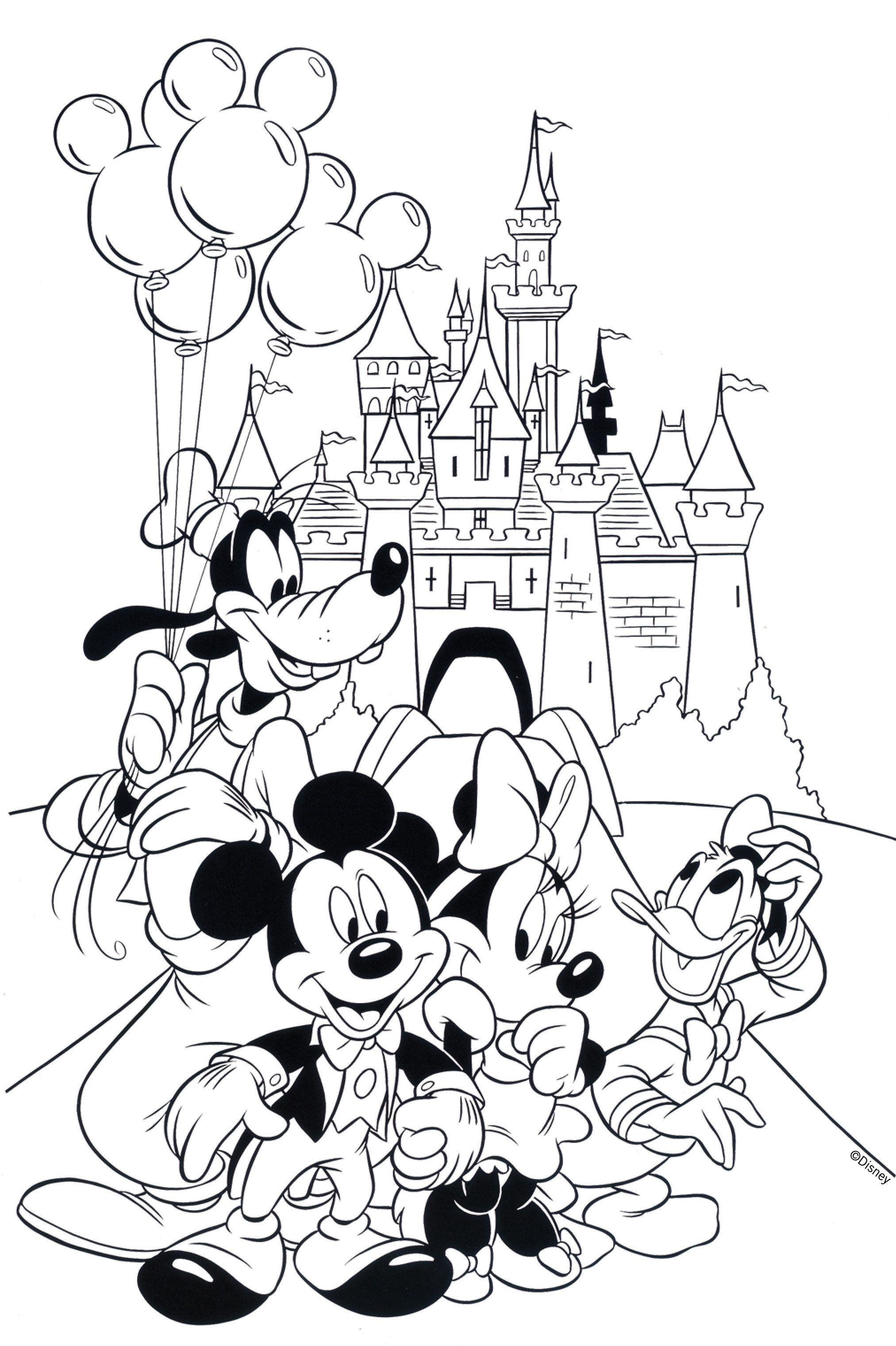 Santa Mouse Coloring Pages With Free Disney Books Pinterest