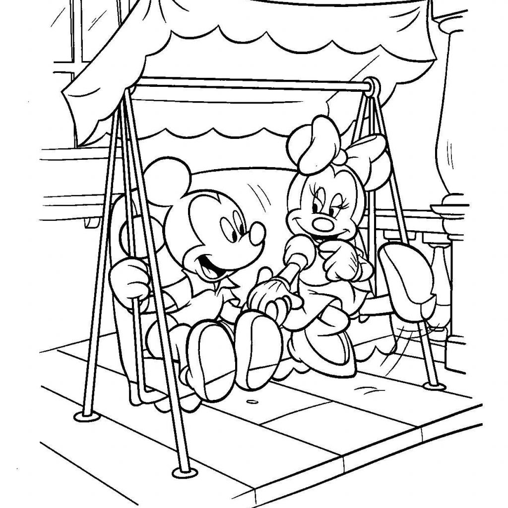 Santa Mouse Coloring Pages With Minnie Face Christmas Page