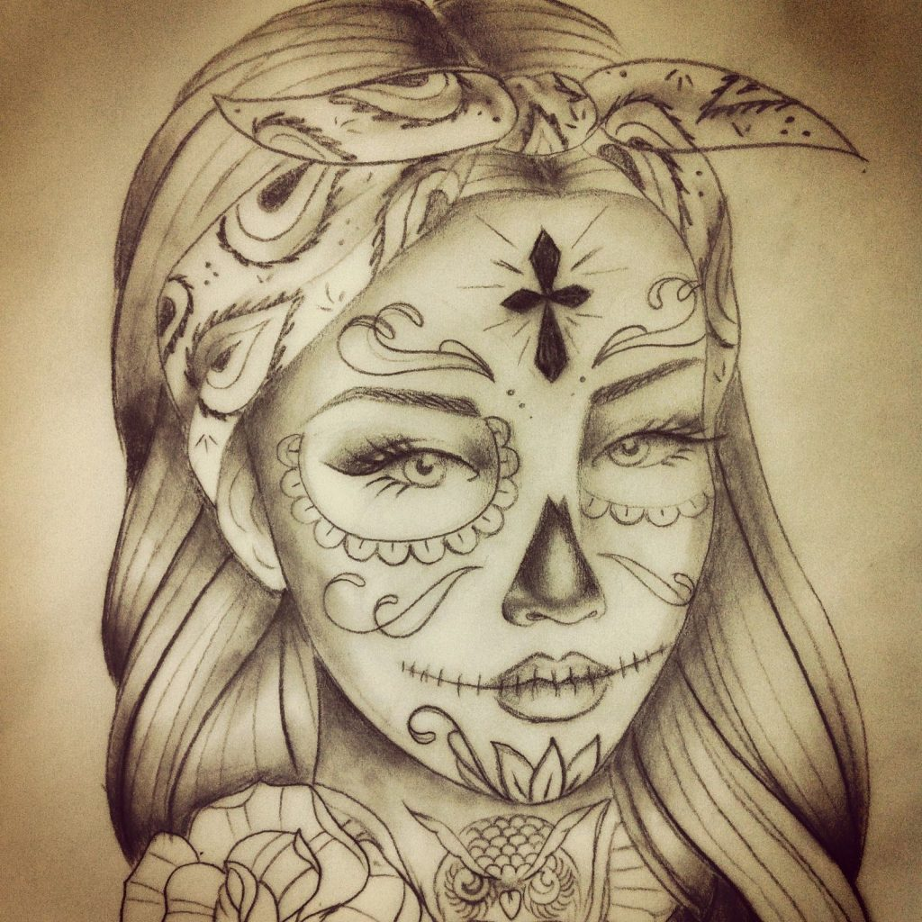 Santa Muerte Coloring Pages With Besaly Tattoo Catrina Tatuaggio