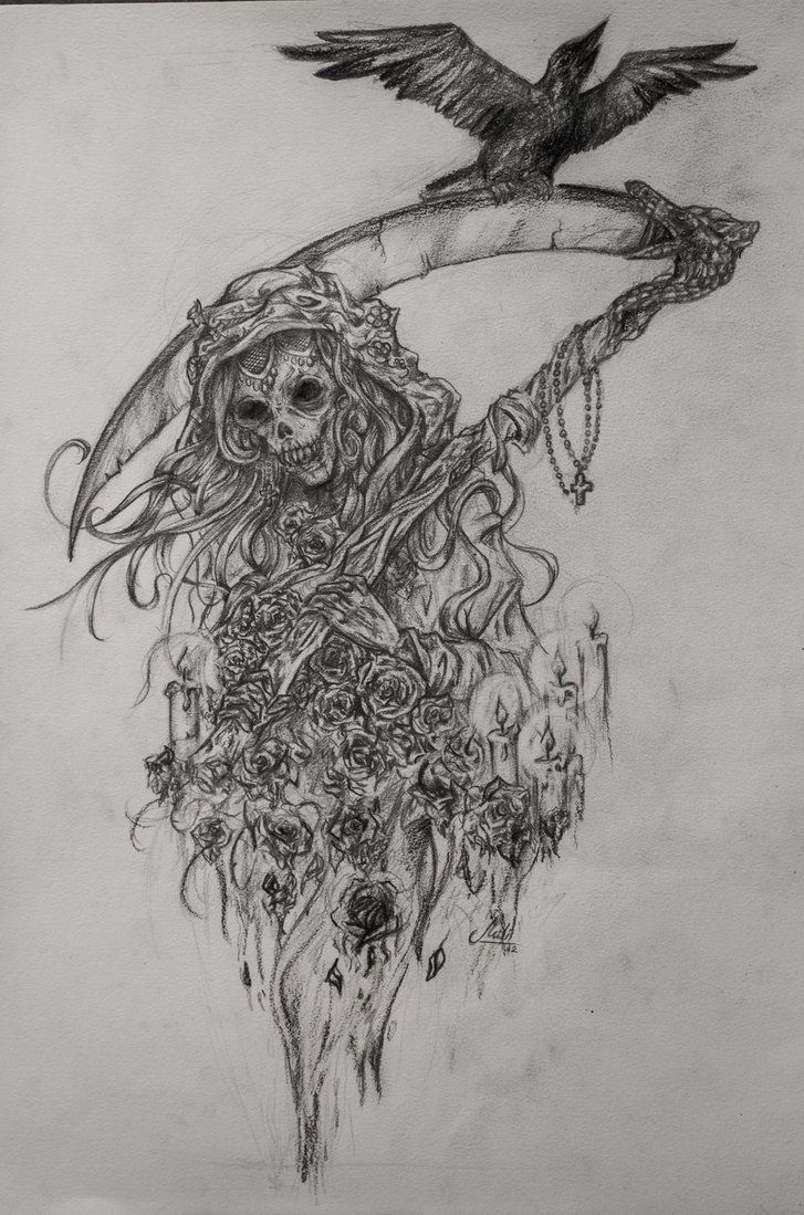 Santa Muerte Coloring Pages With By HisakiChan Tattoos In 2018 Pinterest