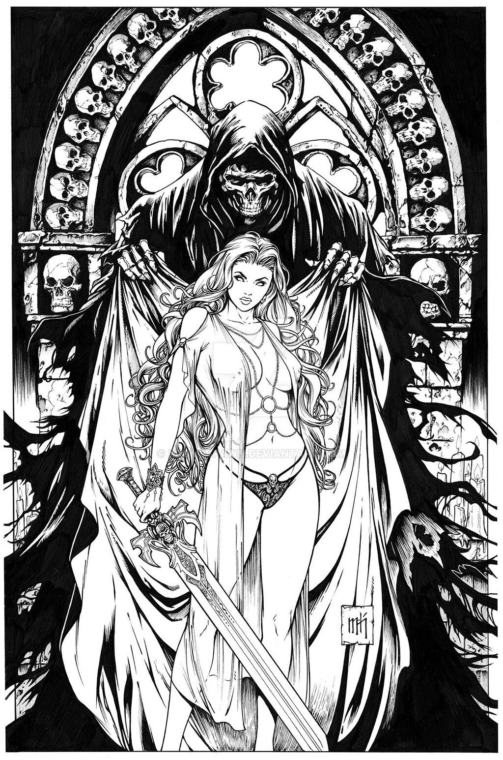 Santa Muerte Coloring Pages With Pin By Bigstu On Pinterest Death Art And Color