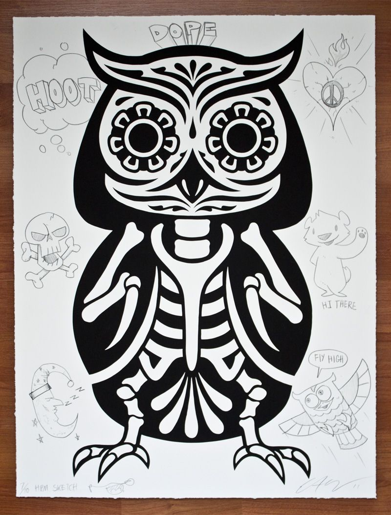 Santa Muerte Coloring Pages With Skeleton Owl CHI O Pinterest Skeletons And Art