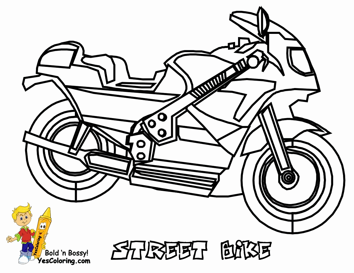 Santa On A Motorcycle Coloring Page With Awesome Dirt Bike Games Vehicle