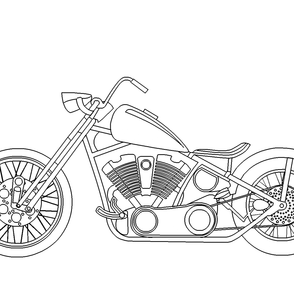 santa-on-a-motorcycle-coloring-page-with-chopper-free-online
