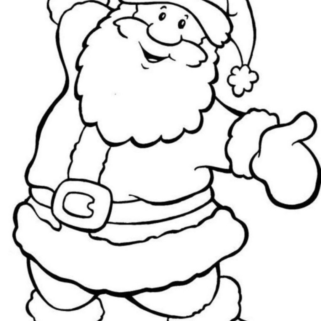Santa On A Surfboard Coloring Page With Full Christmas Pictures To Color And Print Free Colouring In