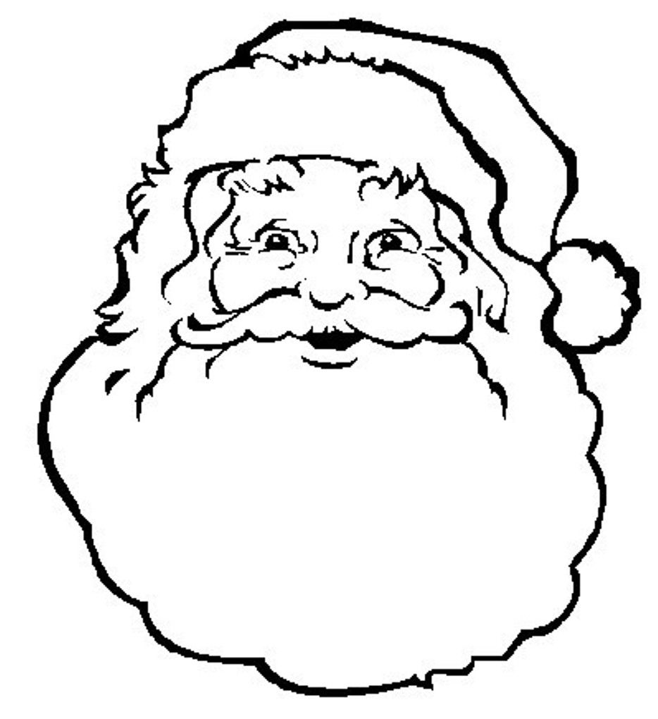 Santa On Rooftop Coloring Page With Face Google Search Christmas Pinterest