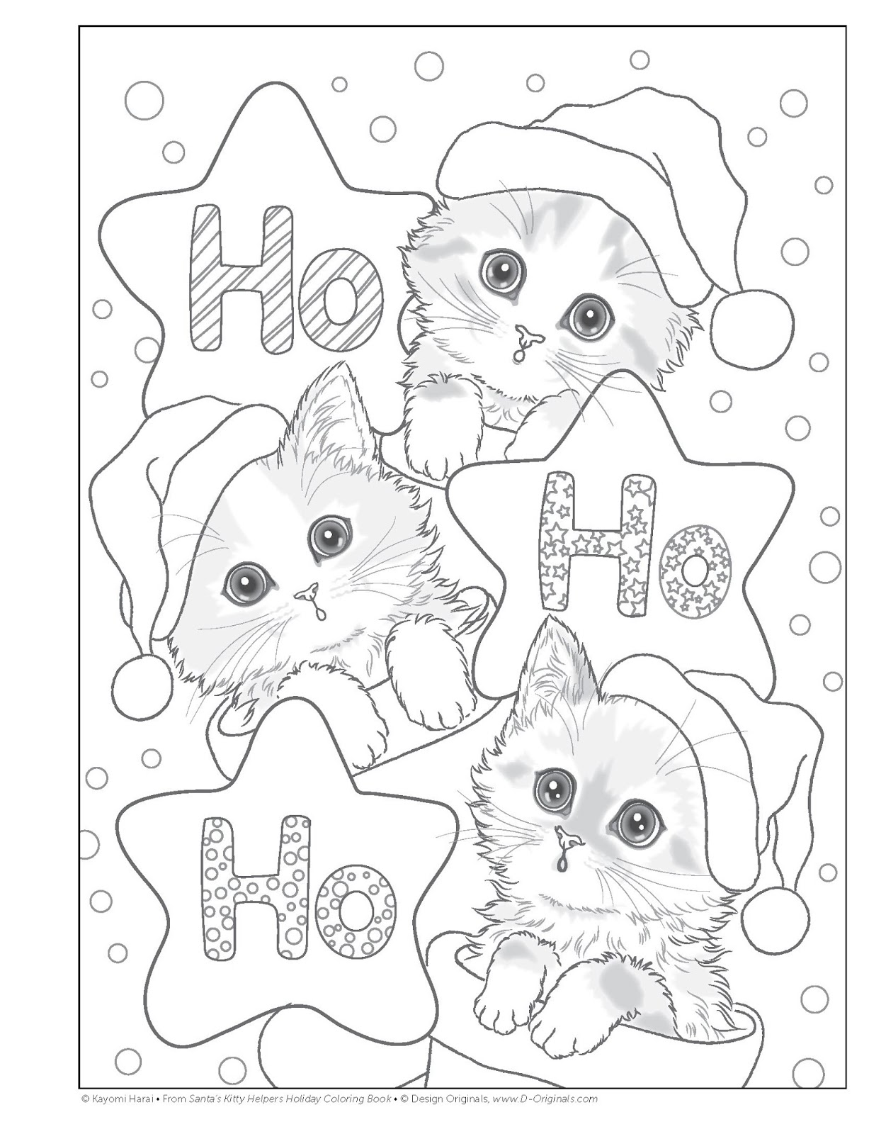 Santa On Vacation Coloring Pages With Green And Glassie S Kitty Helpers Holiday Book