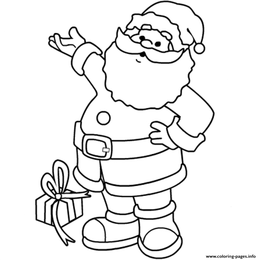 Santa Online Coloring Pages With Christmas S Printable Claus69f3